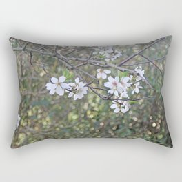 Almond tree branches and flowers Rectangular Pillow