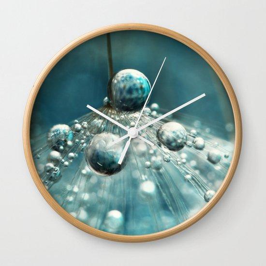 Midnight Blue Dandy rain Wall Clock