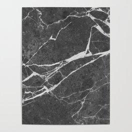 Matte Black Marble Poster