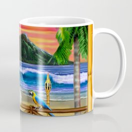 Hawaiian Sunset Hula Dancer Coffee Mug