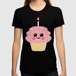Happy Pixel Cupcake T-shirt