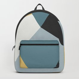 Broken Glass, blue & yellow, abstract graphic Backpack