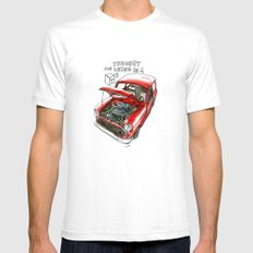 Mini Cooper Classic in Red Mens Fitted Tee White SMALL