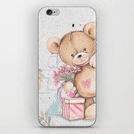 Cute Valentine's Bear iPhone Skin