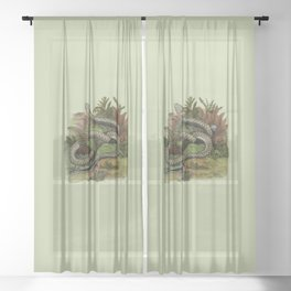 Snake Wildlife Illustration Sheer Curtain