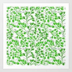 Green Autumn berries Art Print