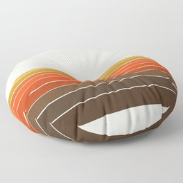 Peace Out - sunset ocean surfing beach life 70s style retro 1970s design Floor Pillow