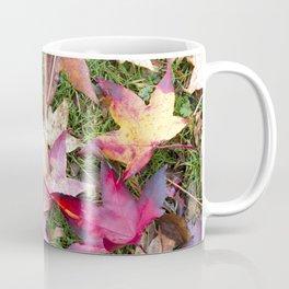 Autumn Leaves Laying on Grass Coffee Mug