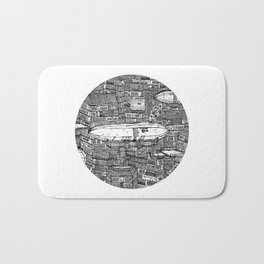 クラッタ市 (Clutter City) Bath Mat