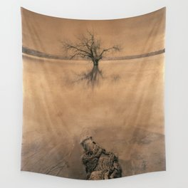 Roots And Trees. Hand Painted Photograph Wall Tapestry