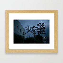 Jeju Storm Framed Art Print