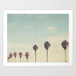 Palm Trees photo. Daydreamer No.2 Art Print