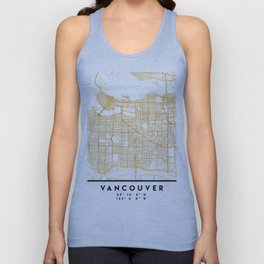 VANCOUVER CANADA CITY STREET MAP ART Unisex Tank Top