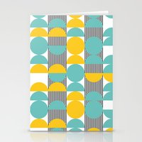60s Stationery Cards featuring 60s pattern 02 by Ioana Luscov