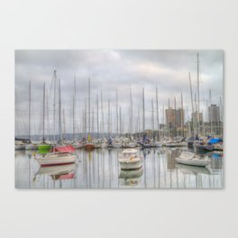 On a cloudy morning Canvas Print