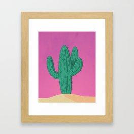 Desert at Sunset Framed Art Print