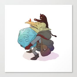 Goblin and his cat Canvas Print