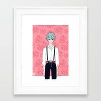 kuroko Framed Art Prints featuring Kuroko by Liyu