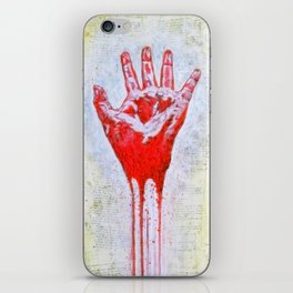 """""""The Red Hand"""" iPhone Skin"""