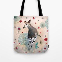 Flowery Okapi Tote Bag