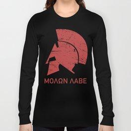 Spartan Helmet - Molon Labe Long Sleeve T-shirt