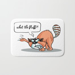 What the Fluff! - Angry Cat Bath Mat