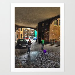 Bubbles on Clink Street Art Print