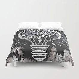 Happiness Can Be Found in the Darkest of Times Duvet Cover