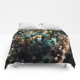 Abstract Topography - Paris Comforters