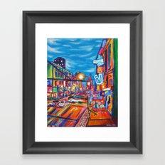 Speeding Past Granville, Vancouver  Framed Art Print