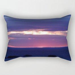 Purple Glow at Sunset Rectangular Pillow