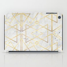 wire gOld triangle iPad Case