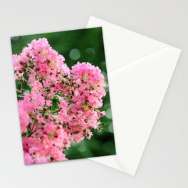 Pink Crape Myrtle Blossom Photography Stationery Cards