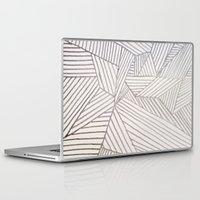 stripe Laptop & iPad Skins featuring stripe by HooVeHee