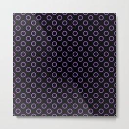 Purple Rings with Black Background Metal Print