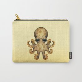 Cute Brown and Yellow Baby Octopus Carry-All Pouch