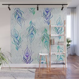 Peacock pattern Wall Mural