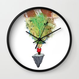 open mind Wall Clock