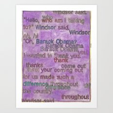 Edie Windsor said Art Print