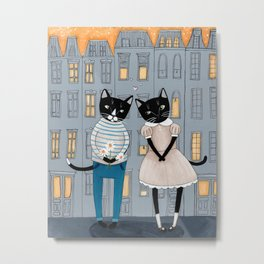 The Cats First Date Metal Print