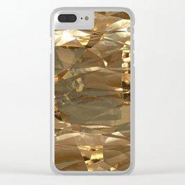 Golden Foil Clear iPhone Case