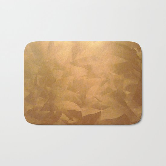 Brushed Copper Metallic - Beautiful - Rustic Glam - Fancy Faux Finishes - Unique Bath Mat