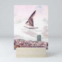 Seagull flying Mini Art Print