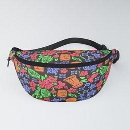polynesian tiki colors pattern  Fanny Pack