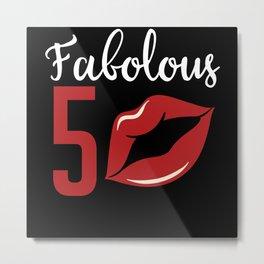 Fabolous 50 Birthday Celebration Lips Metal Print