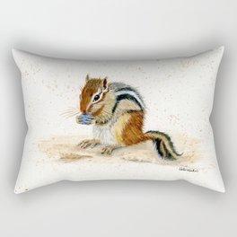 """Chippy"" Chipmunk - animal watercolor painting Rectangular Pillow"