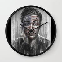 springsteen Wall Clocks featuring Shackled and Drawn by Westling