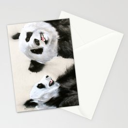 Laughing Pandas  Stationery Cards