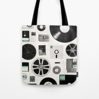 data Tote Bags featuring Data by Florent Bodart / Speakerine