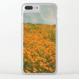 California Poppies 016 Clear iPhone Case